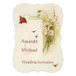 Flores salvajes que casan la invitación
