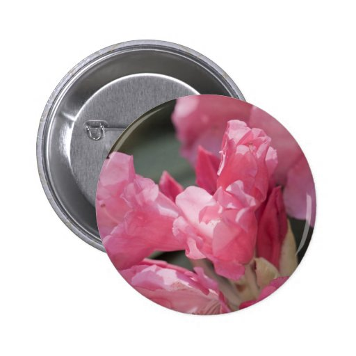 Flores salvajes rosadas pin redondo 5 cm