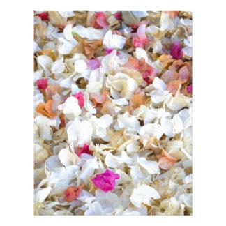 Flores secadas CONFETI Plantillas De Membrete