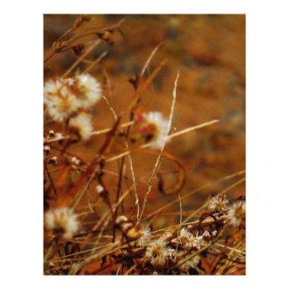 Flores secadas crema lateral del lago membrete a diseño