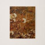 Flores secadas crema lateral del lago rompecabeza