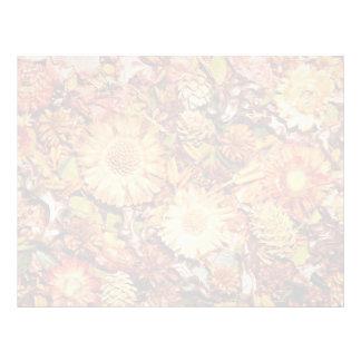 Flores secadas de las flores membrete a diseño