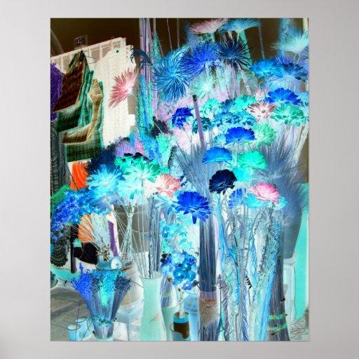 Flores secadas en el mercado resumido poster