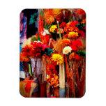 Flores secadas - fotos vivas del mercado iman rectangular