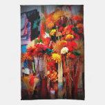 Flores secadas - fotos vivas del mercado toalla de cocina