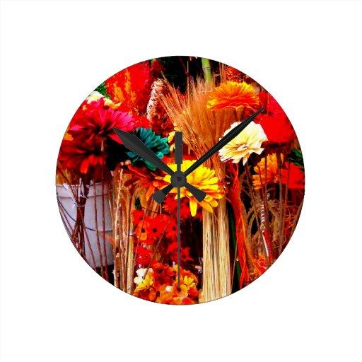 Flores secadas - fotos vivas del mercado reloj