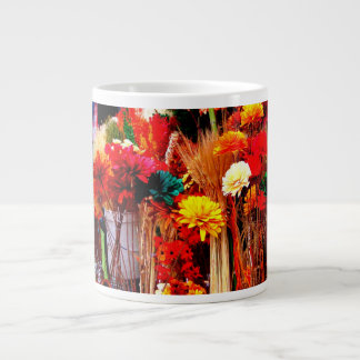 Flores secadas - fotos vivas del mercado taza jumbo