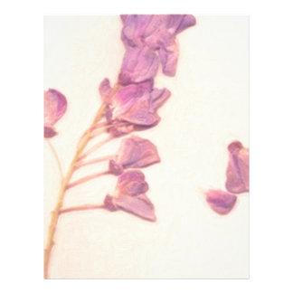 flores secadas membrete a diseño