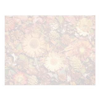 Flores secadas membrete
