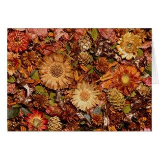 Flores secadas tarjeta de felicitación