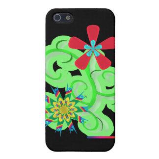 Flores seculares del símbolo del humanista y del a iPhone 5 carcasa