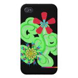 Flores seculares del símbolo del humanista y del a iPhone 4 coberturas
