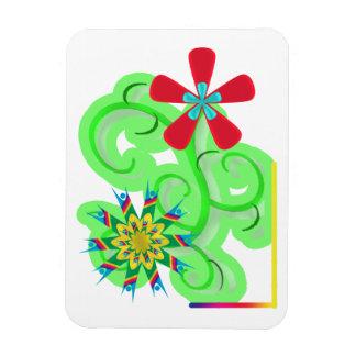 Flores seculares del símbolo del humanista y del a imanes rectangulares