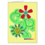 Flores seculares del símbolo del humanista y del a tarjetas