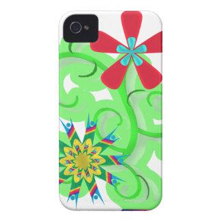 Flores seculares del símbolo del humanista y del Case-Mate iPhone 4 cárcasa