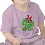 Flores seculares del símbolo del humanista y del camiseta