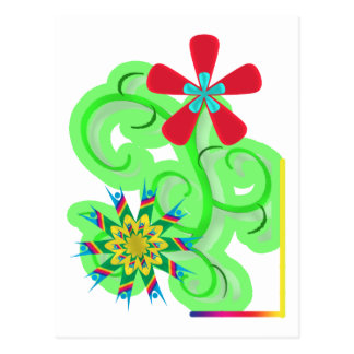 Flores seculares del símbolo del humanista y del tarjetas postales