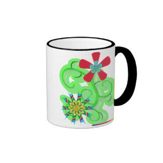 Flores seculares del símbolo del humanista y del taza de dos colores