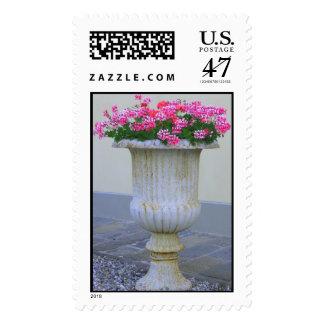 Flores Sello Postal