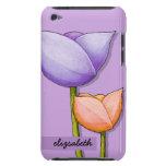 Flores simples iPod anaranjado púrpura 4 Barely Th iPod Touch Cobertura