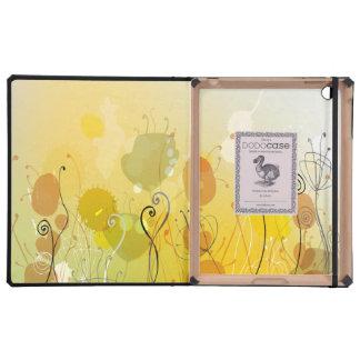 Flores soleadas abstractas del jardín iPad cárcasas