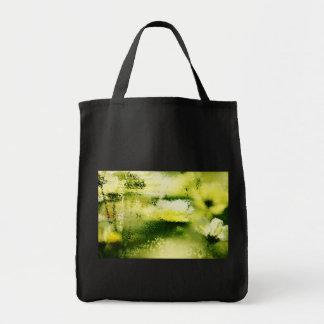 Flores soñadoras en la lluvia - bolsos del arte de bolsa tela para la compra