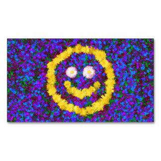 Flores sonrientes felices del diente de león de la tarjetas de visita magnéticas (paquete de 25)