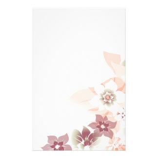 Flores suaves de la caída - inmóviles - 3 personalized stationery