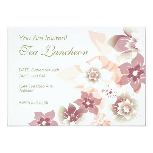 Flores suaves de la caída - invite - 1 invitación 12,7 x 17,8 cm