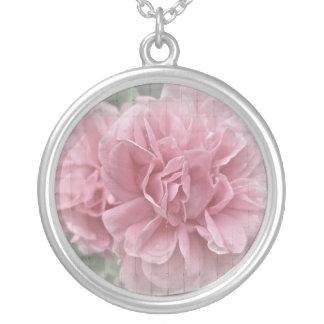 Flores subiós que suben rosados colgante redondo