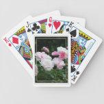 Flores subiós rosa bonito del verano barajas de cartas