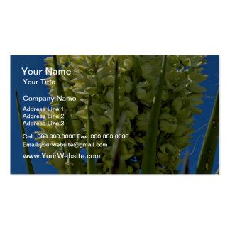 Flores suculentas de florecimiento amarillas tarjeta personal