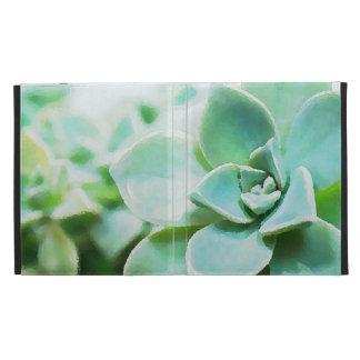 Flores suculentas verdes artsy de encargo