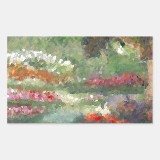 Flores Sunlit del estilo impresionista alegre de l Rectangular Altavoces