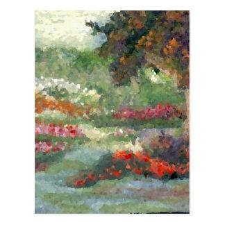 Flores Sunlit del estilo impresionista alegre de Postal
