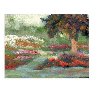 Flores Sunlit del estilo impresionista alegre de Tarjetas Postales