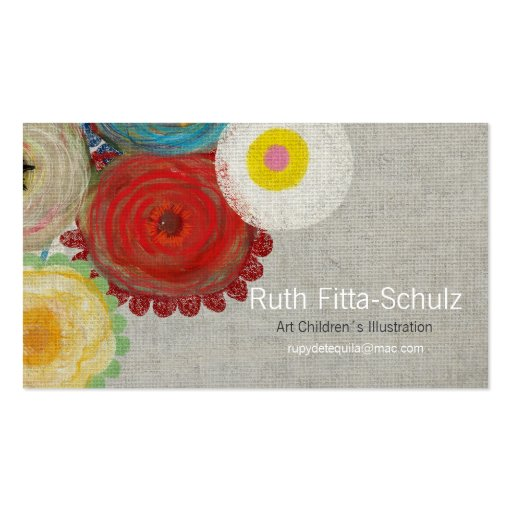 Flores superiores 2013 de las tarjetas de visita