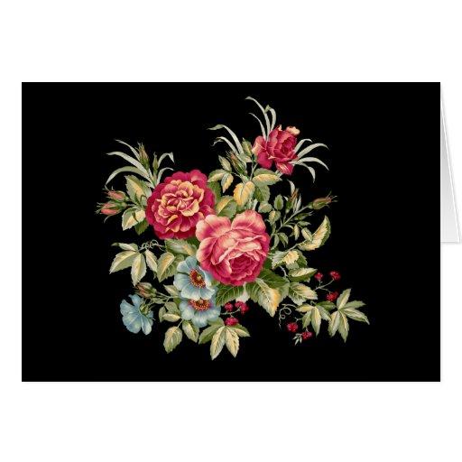 flores tarjetón