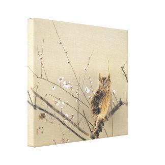 Flores tempranos del ciruelo de Nishimura Goun Lienzo Envuelto Para Galerías