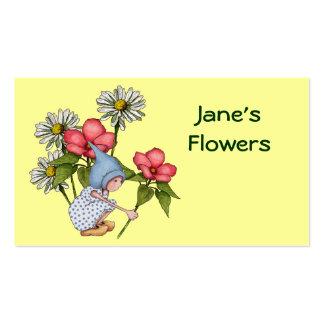 Flores, tienda floral: Chica lindo del gnomo, Tarjetas De Visita