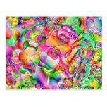 Flores torcidas extracto del color tarjeta postal
