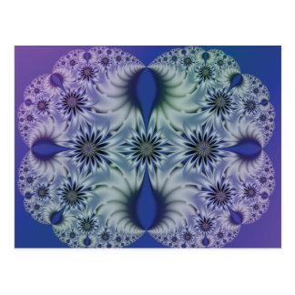 Flores translúcidas tarjetas postales