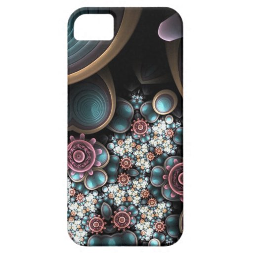 flores tribales femeninas funda para iPhone 5 barely there