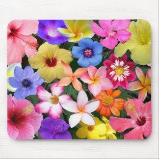 Flores tropicales alfombrilla de raton