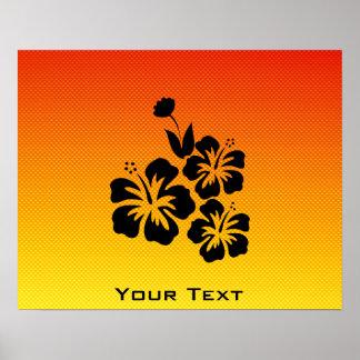 Flores tropicales amarillo-naranja posters