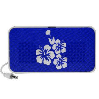Flores tropicales azules iPod altavoz