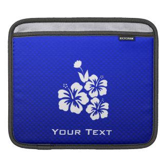 Flores tropicales azules mangas de iPad
