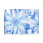 Flores tropicales azules iPad mini funda