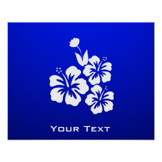 Flores tropicales azules posters