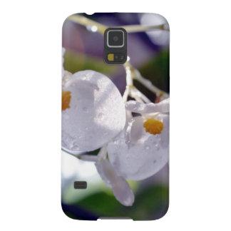 Flores tropicales blancas delicadas funda para galaxy s5